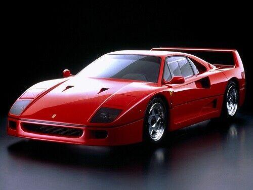 FERRARI 1988-1991 F40 STAMPA POSTER Retrò classico anni/'80 annuncio A3