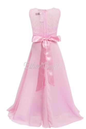 UK Flower Girsl Dress Princess Occasion Party Wedding Bridesmaid Communion Gown