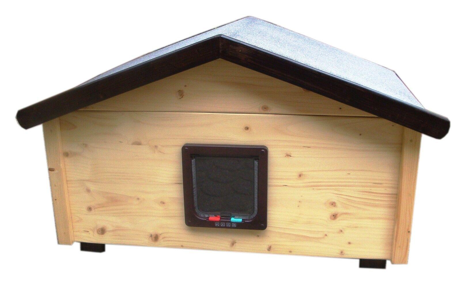prezzi più convenienti Outdoor gatti casa casa casa resistente alle intemperie Landhaus con sportello per gatti-ns2-l  punto vendita