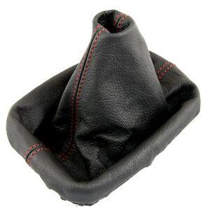 Bmw E30 E34 E36 E46 Z3 X5 Red Stitch Black Leather Gear