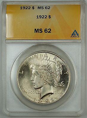 1922 $1 Peace Dollar ANACS MS 63