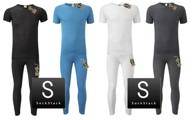 Mens Thermal Underwear Set, T-shirt & Pants, S M L XL XXL Thermals By Sockstack