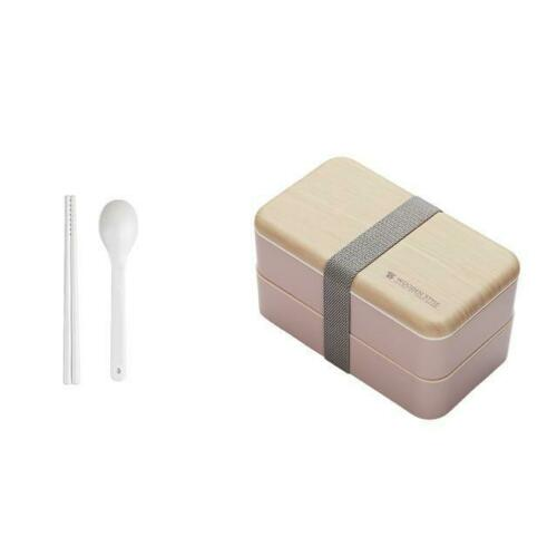 Microwave Double Layer Lunch Box Wooden Bento Box Portable Container Box BPA