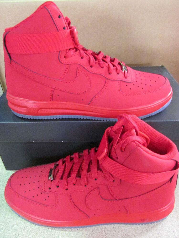 Nike Lunaire Force 1 Hi 14 Baskets Montés pour Hommes 705436 600 Baskets Chaussures de sport pour hommes et femmes