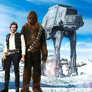"""1//6 Star Wars Hoth Backdrop 15""""x15"""" For Hot Toys Han Solo Chewbacca MMS261"""
