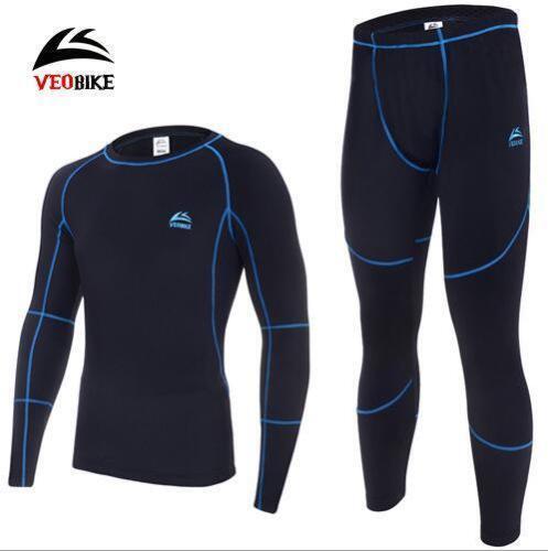 Homme hiver sport ski THERMIQUE Skin Tight Top /& Bottom Pantalon Sous-Vêtements Costume Set