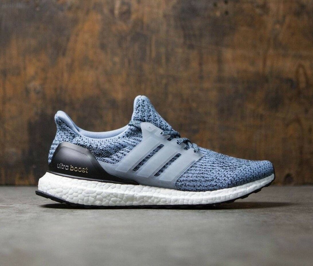 ADIDAS ULTRA BOOST 3.0 TACTILE Bleu homme TRAINERS Taille8 EU 42 UNISEX chaussures