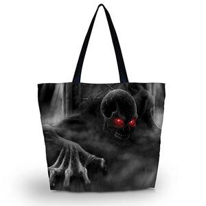 Red-Eye-Skull-Soft-Foldable-Tote-Women-Shopping-Bag-Shoulder-Bag-Lady-Handbag-C0