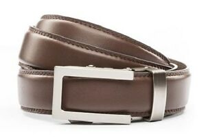 4bc3cfd4fd674 Anson Belt & Buckle. Mens traditional gunmetal buckle Choc. brown ...