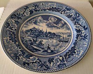 "Johnson Bros England Historic America 10"" Plate View of Boston Massachusetts"