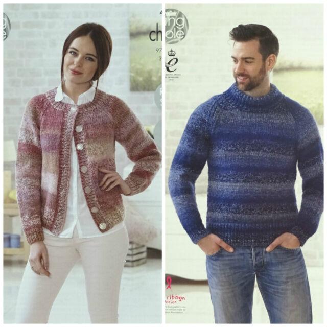 4c8c225fd Knitting Pattern Ladies Easy Knit Larger Sizes Cardigan Chunky King ...