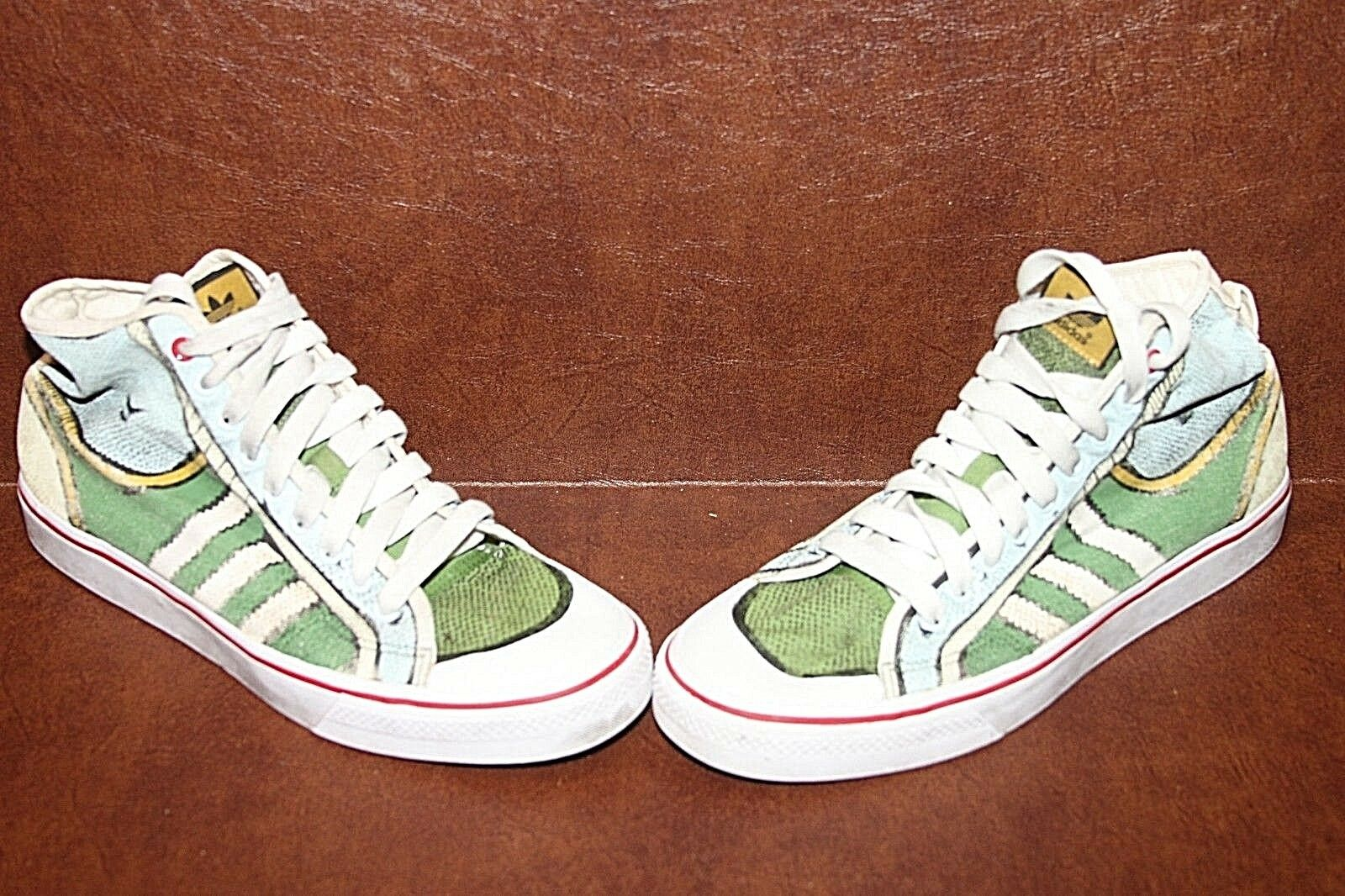 Adidas RARE 2009 Nizza Hi Tops G02125 Cartoon Comicbook Sz 12