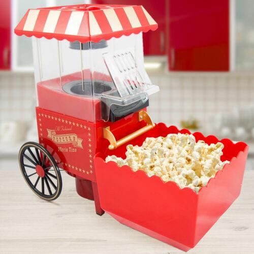 Popcorn machine Maker Old Fashioned Rétro 1200 W air chaud sans graisse gold Rouge