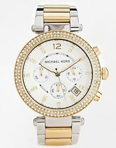 e1abe9074f66 Image is loading Michael-Kors-MK5626-Chronograph-Parker-Two-Tone-Stainless-