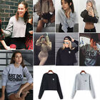 Fashion Womens Long Sleeve Hoodies Jumper Pullover Sweatshirt Coat Tops T-Shirts