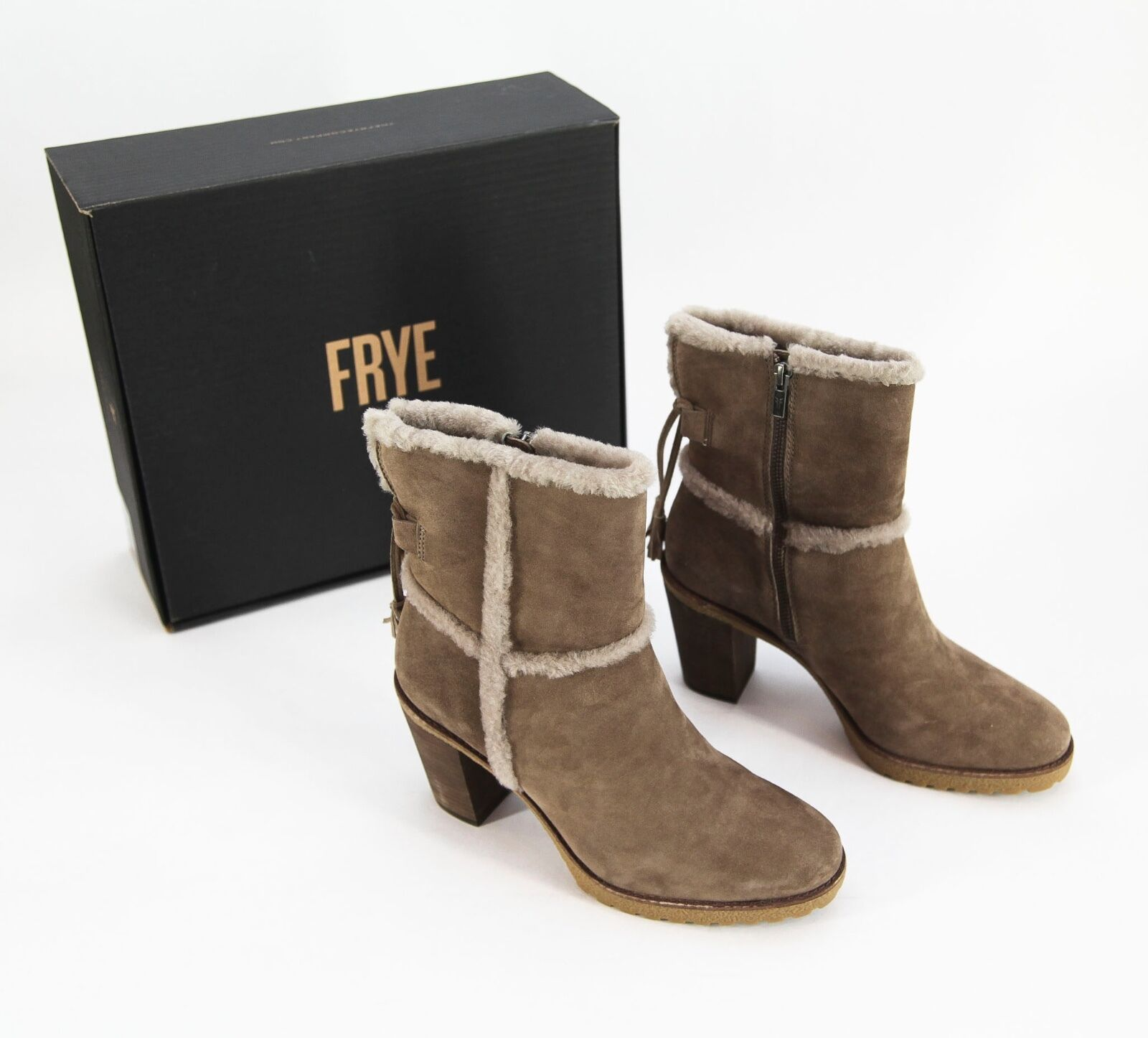 NEW  395 Frye 'Jen' Shearling Short Lamb Leather and Fur Ankle démarrage Taille 10M
