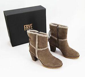 "Womens 12/"" Beige Tan Fur Jennifer SHEEP 3 Button  Boots Size 7"