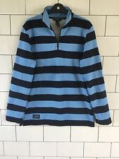 MENS 90'S RALPH LAUREN VINTAGE RETRO RUGBY STYLE STRIPED SWEATSHIRT SWEATER UK M