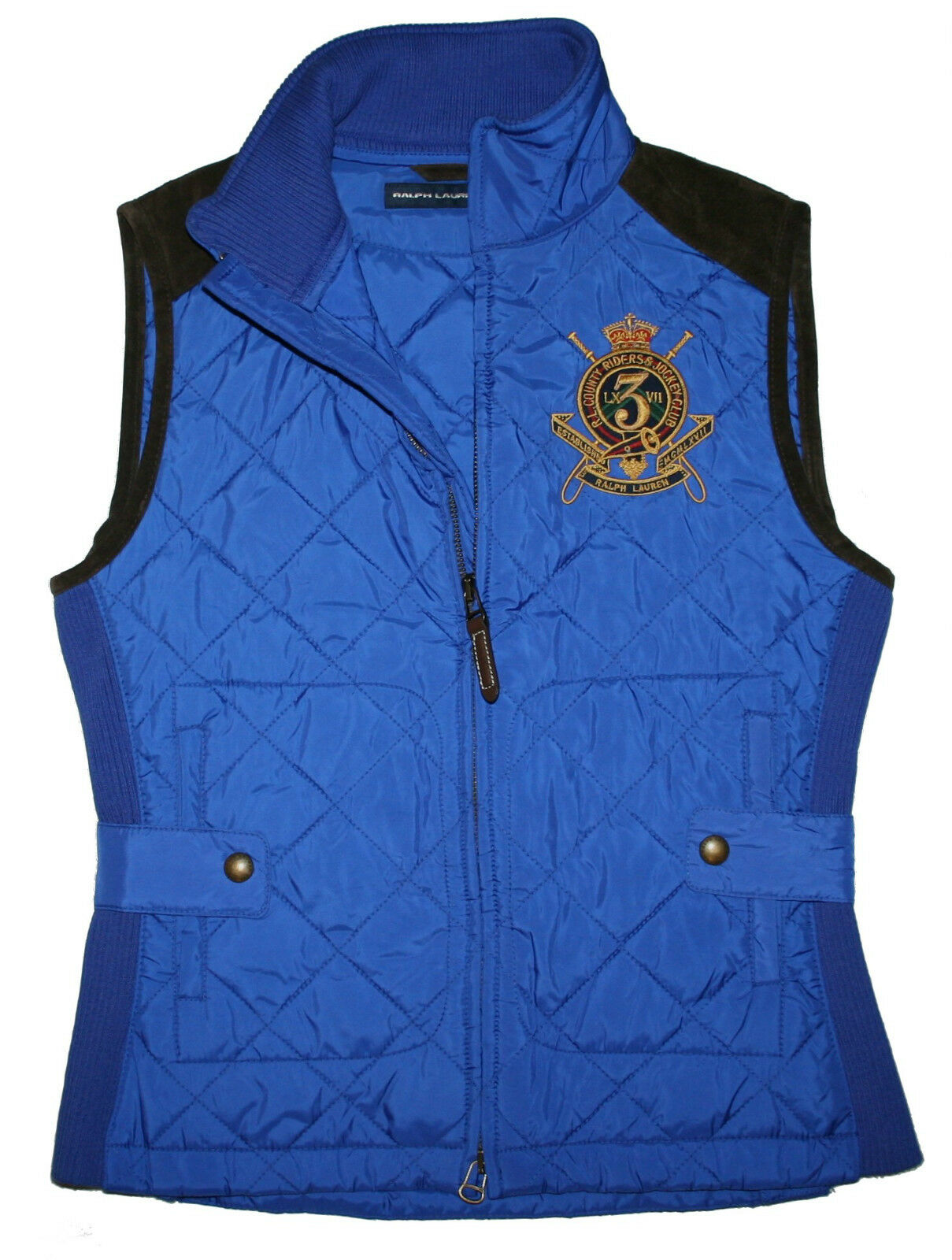Exclusive Polo Ralph Lauren Circuit Hunting Ladies Quilted Vest SIZE S