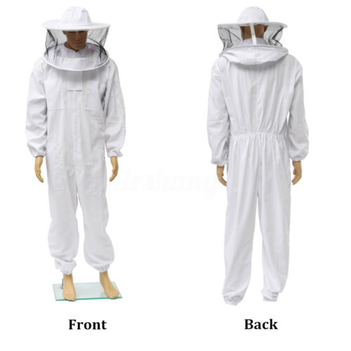 3XL Beekeeper Protect Bee Jacket keeping Suit Safty Veil Hat Body Equipment Hood