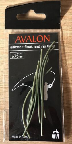 Mosella Avalon Silicone Float /& Rig Tube Clear /& Weedy Green Free P/&P