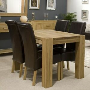 Image Is Loading Michigan Solid Oak Furniture Dining Table With Four
