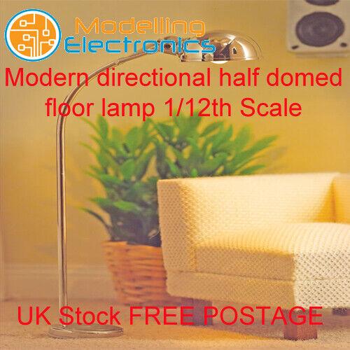 1//12 Scale Dolls House Emporium moderne directionnel Demi-Coupole Lampadaire 5727