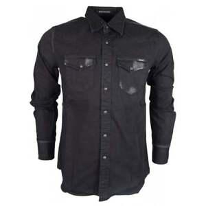 Replay-Slim-Fit-Black-Denim-Shirt