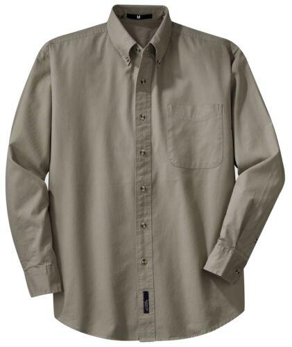 100/% COTTON SHIRT MEN/'S TWILL LONG SLEEVE BUTTON DOWN COLLAR XS-6XL POCKET