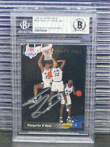 1992-93 Upper Deck Shaquille O'Neal Draft Pick #1 Becket Certified Auto H36