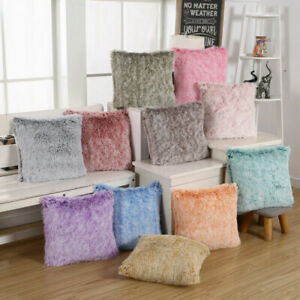 """US 17/"""" Fluffy Cushion Covers Furry Scatter Decorative Soft Pillow Case Plush"""
