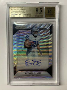 Ezekiel-Elliott-2016-Blue-Wave-Prizm-Auto-RC-149-Cowboys-BGS-9-5-10-Gem-Subs