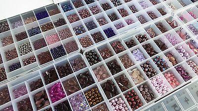 BLUE CZECH BEADS LOT BIGGEST Assortment Czech Glass Beads SALE Czech Republic