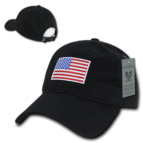 Black US American Flag Patch United States America Polo Tonal Baseball Hat  Cap c708cd68499