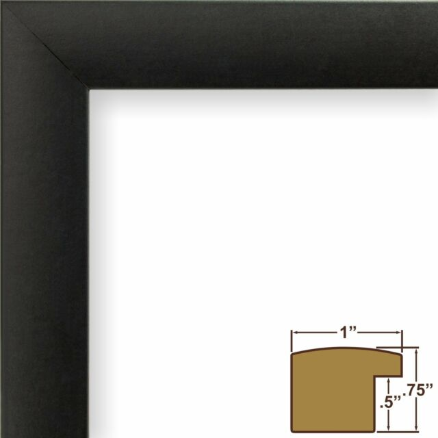 Craig Frames 1wb3bk 24 By 36 Inch Picture Frame Smooth Wrap Finish 1