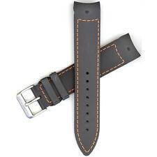 Hamilton 21mm Black/Orange Rubber Khaki GMT Air Race Watch band H600776118