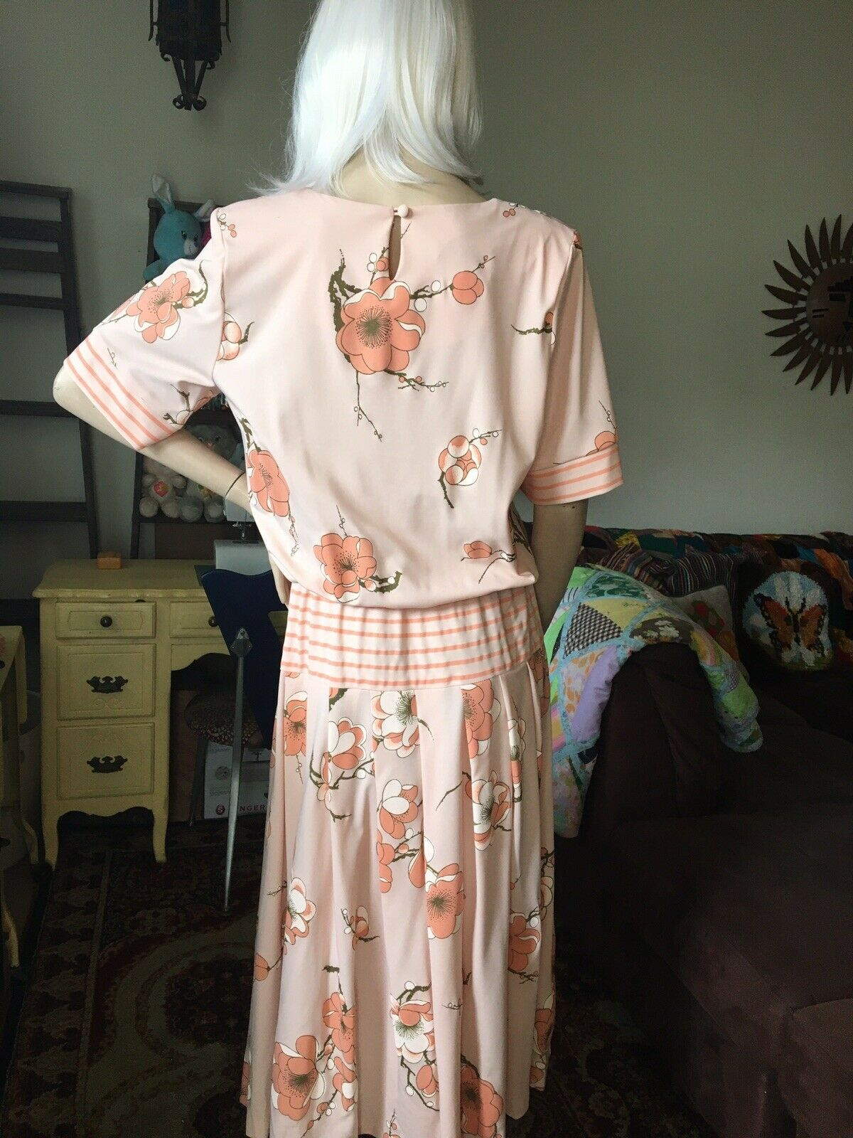 Vintage 1980's Alfred Shaheen Dress - image 2