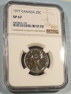 1977 Canada Caribou Proof Like 25C Quarter Coin!