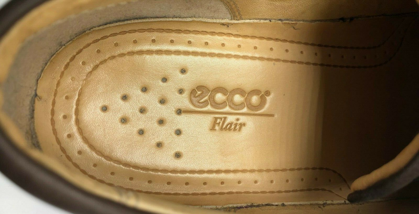 ECCO Flair Leather Women's Brown Tie Loafers shoes - - - Size 40 (US 10) 086786