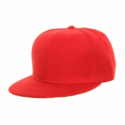 SNAP BACK FLAT PEAK HIP HOP BASEBALL CAP 4 colours fast post 1st class