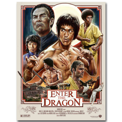 "Bruce LEE Enter the Dragon Classic Movie Canvas Posters Art Prints 8x11/"" 24x32/"""