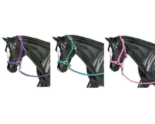 Set of 3 #2474 Breyer Horses Traditional Size Hot Colored Nylon Halters