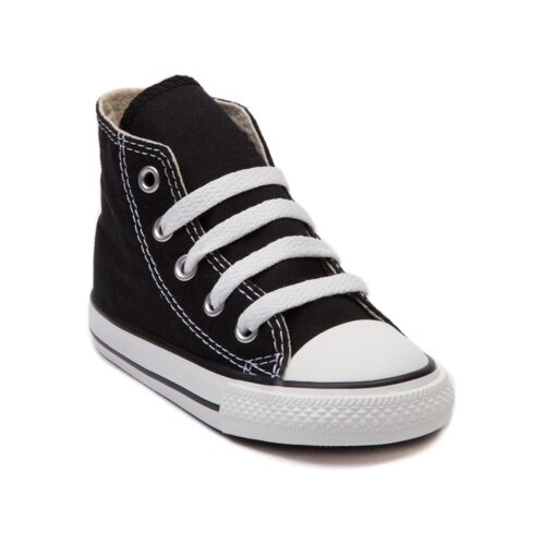 Converse All Star Hi Chucks Infant Toddler Black//White Canvas Shoe 7J231
