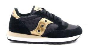 Sneakers-da-donna-Saucony-Jazz-Originals-nere-con-dettagli-oro-gold-suola-gomma