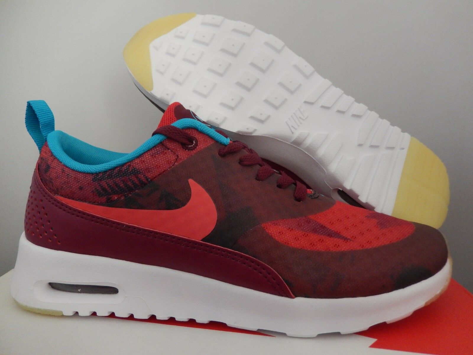 WMNS NIKE AIR MAX THEA PRINT N7 GARNET-UNIVERSITY RED SZ 6.5 [811362-664]