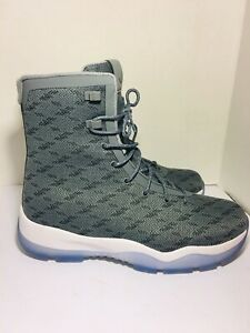 competitive price c0617 1d7bc Image is loading Nike-Air-Jordan-Future-Boot-Cool-Grey-White-