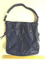 Bueno Collection Blue Handbag Tote Purse Bag Outside Pockets Flash Sale