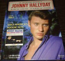 JOHNNY HALLYDAY LIVRE + CD DE LA COLLECTION OFFICIELLE SINGS AMERICA ROCKIN HITS