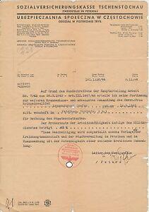 Generalgouvernement-Sozialversicherungskasse-Tschenstochau-1944-12