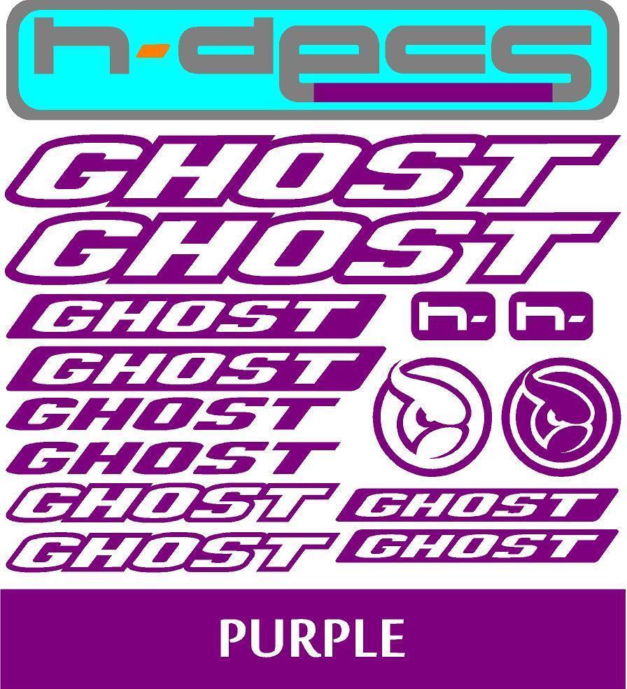 stickers, cycling, mtb, bmx, road, bike Ghost Bikes T1 Die-cut decal sheet.